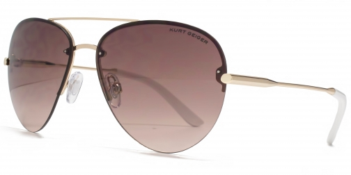Kurt Geiger 26KGL032 Gold Aviator Sunglasses