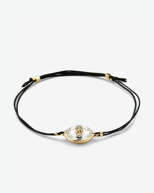Ted Baker Crystal Button Black Bracelet