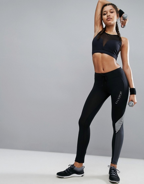 Elle Sport Pannel Zip Pocket Gym Joggers Athletic Pant