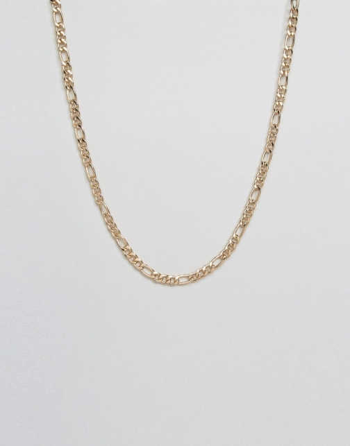 Asos Chain Interest Gold Necklace