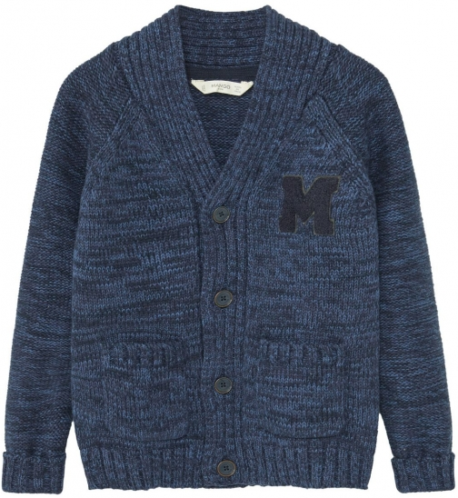 Mango Boys Flecked Cotton-blend Cardigan