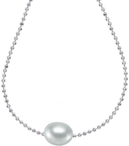 House Of Fraser Dower And Hall Silver Dove Grey Single Pearl Pendant
