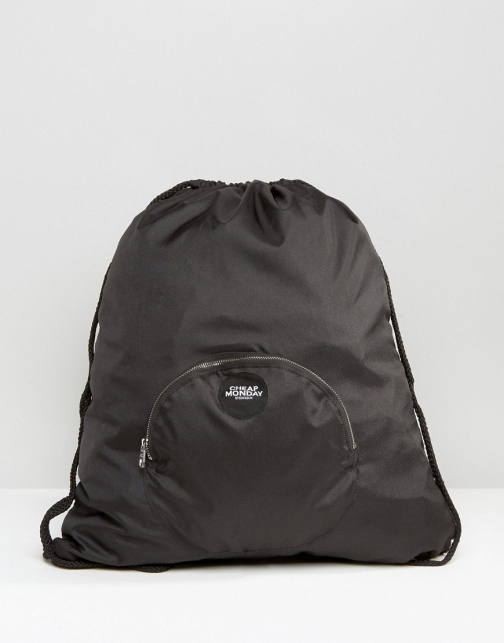 Cheap Monday Front Pocket Drawstring Backpack