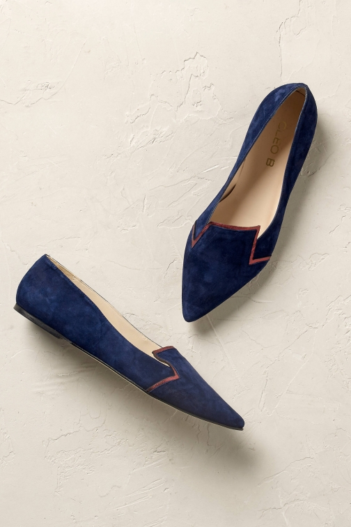 Anthropologie Issy Suede Smoking Slipper