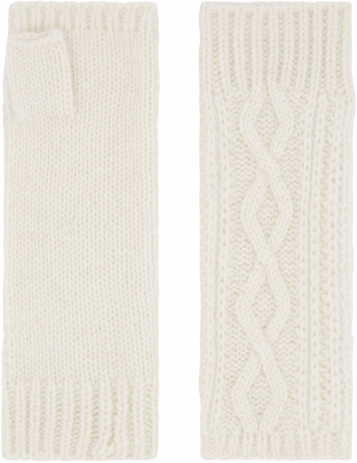 Accessorize Cashmere Cable Cut Off Glove