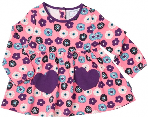 Polarn O. Pyret Baby Girls Flower Tunic Top