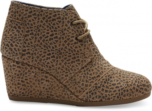 Toms Cheetah Suede Women's Desert Wedge