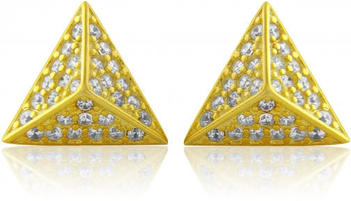 House Of Fraser LaBante Gold Pyramid Stud Earring