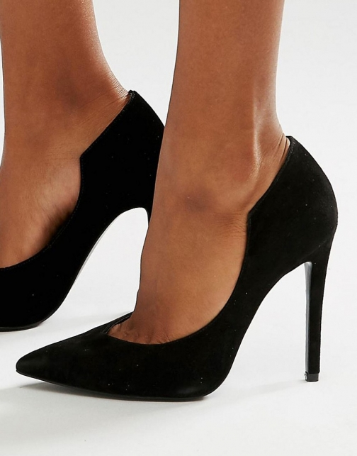 Asos Kendall + Kylie Black Suede Court Shoes