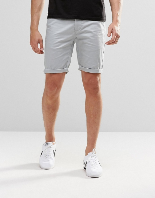Asos Skinny Chino Pale Blue Short