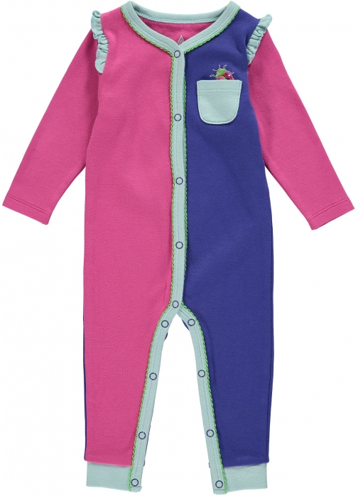 House Of Fraser Rockin' Baby Girls Pink Colour Block Footless All--one Clothing