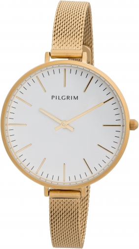 Pilgrim Gold Plated Slim Metal Band Watch