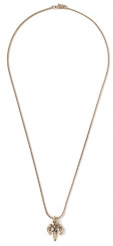 Topman Mens Metallic Claw Pendant *, Metallic Necklace