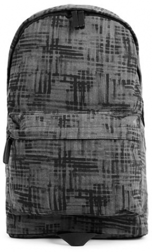 Topman Mens Multi Black Brushstroke Print , Multi Backpack