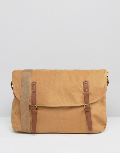 Asos Tan Canvas Satchel