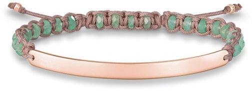 Thomas Sabo Green Macramé Love Bridge Bracelet