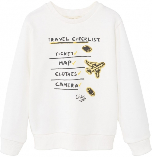 Mango Boys Printed Cotton Sweatshirt