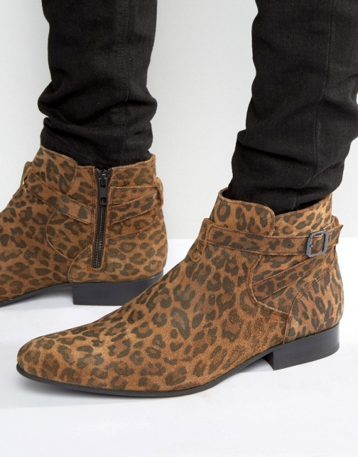 House Of Hounds Albion Leopard Jodphur Boot