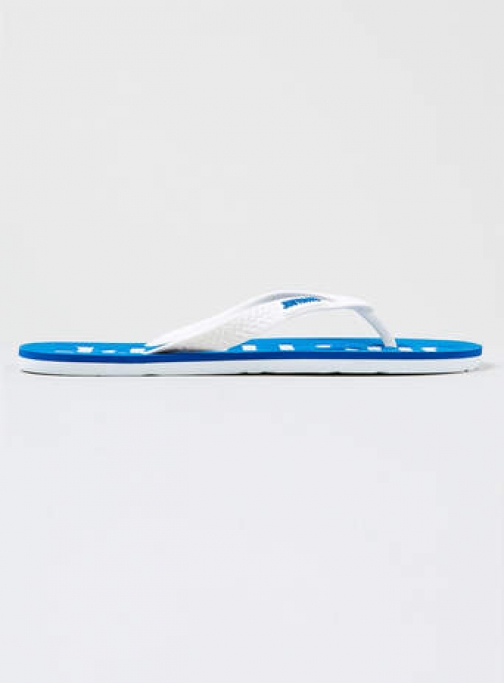 Topman Mens Hype Blue And White Flip Flop