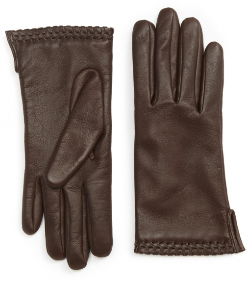 Jigsaw Ginny Whipstitch Leather Glove