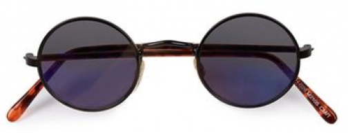 Topman Mens HINDSIGHT VINTAGE Mahoney Black *, Black Sunglasses