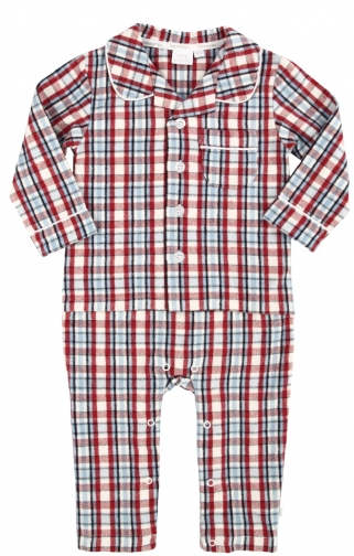 House Of Fraser Mini Vanilla Baby Boys Mock Pyjama