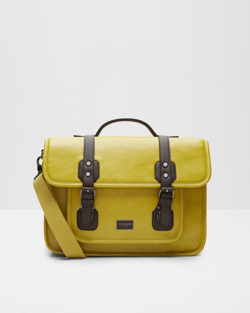 Ted Baker Detachable Strap Yellow Satchel