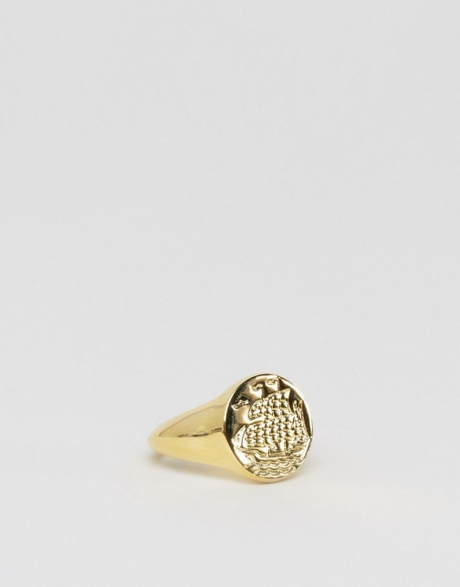 Asos Sovereign With Ship Design Ring