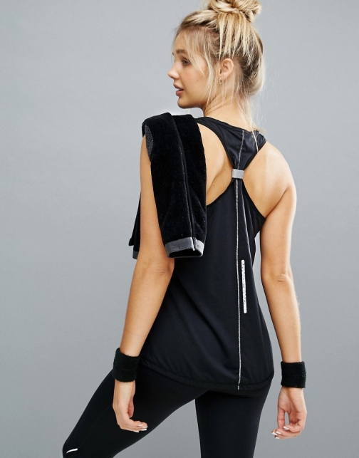 Elle Sport Back Detail Gym Vest Tie