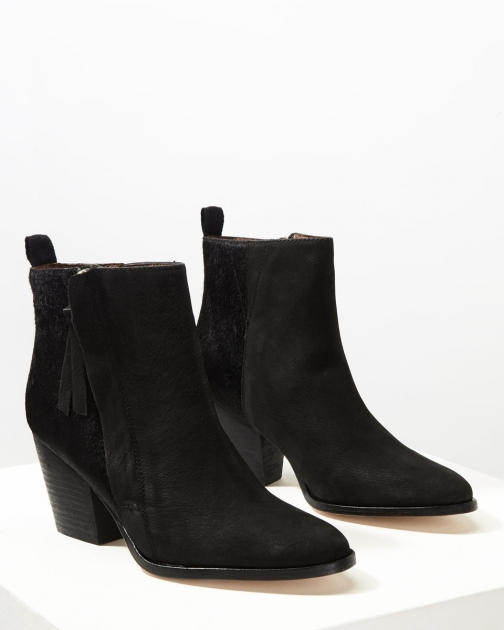 Jigsaw Adyson Side Zip Calf Hair Boot