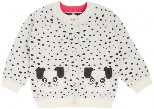 Joules Baby Girls Dalmation Print Cardigan