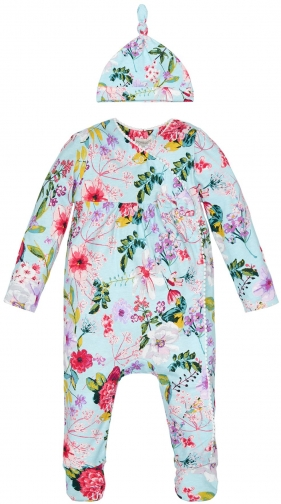 Monsoon Baby Girl Newborn Sleepsuit And Hat Clothing