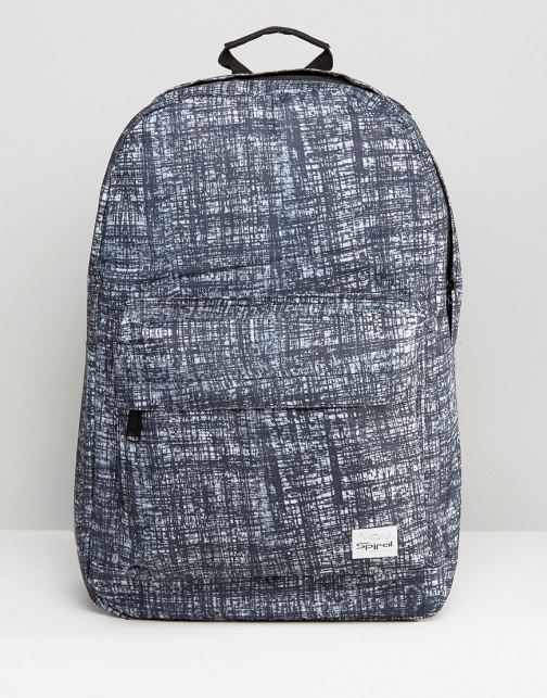 Asos Spiral Sketch Black Backpack