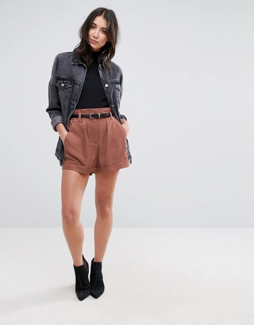 Selected Monna Bucket Waist Short