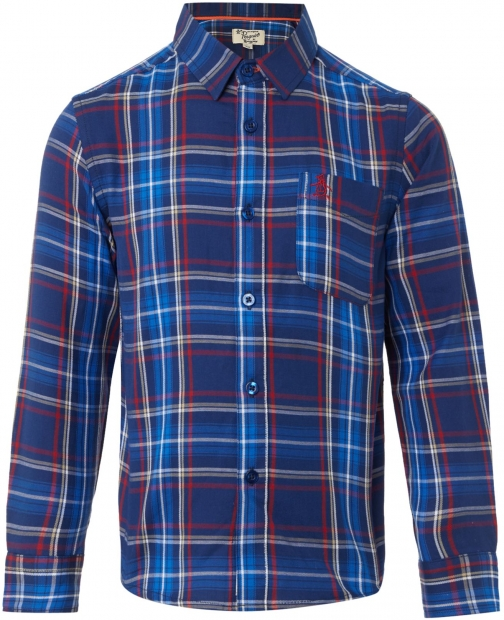 Original Penguin Boys Large Check Shirt