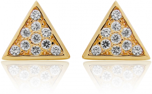House Of Fraser LaBante Gold Triangle Stud Earring
