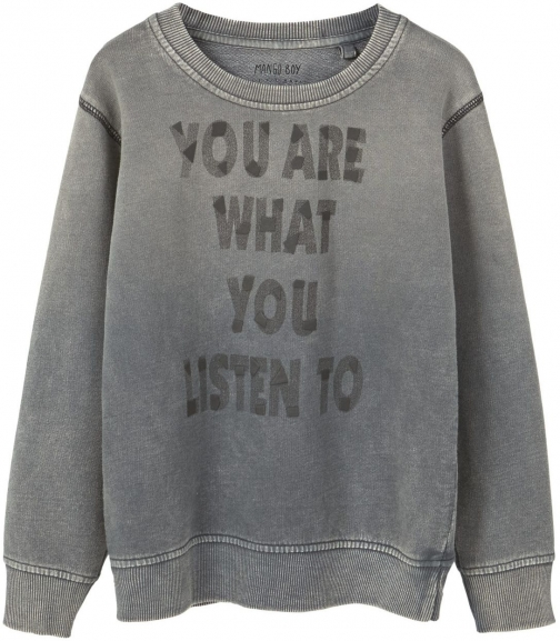 Mango Boys Message Cotton Sweatshirt