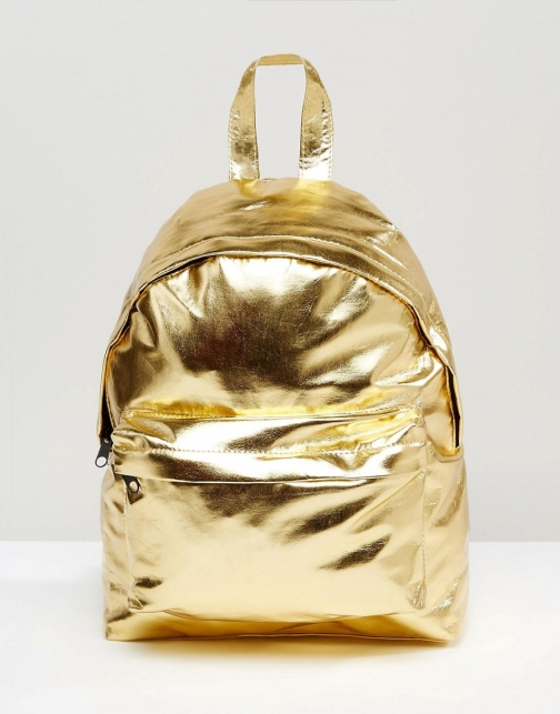 Asos Metallic Mini Backpack