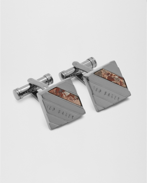 Ted Baker Semi-precious Striped Gunmetal Cufflink