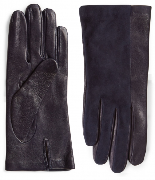 Jaeger Leather Suede Detail Glove