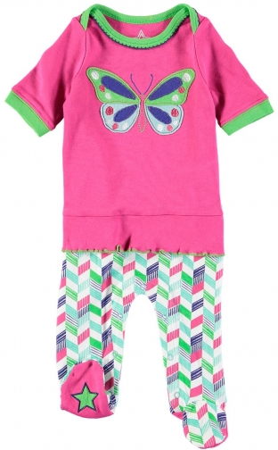 House Of Fraser Rockin' Baby Girls Butterfly Frill Onesie