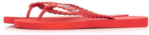 Topman Mens Red Gandys Rope Flip Flop