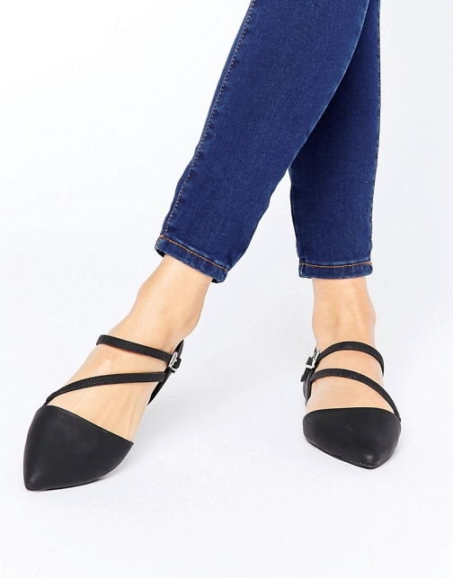 Call It Spring Nespolo Strap Detail Point Flat Shoes