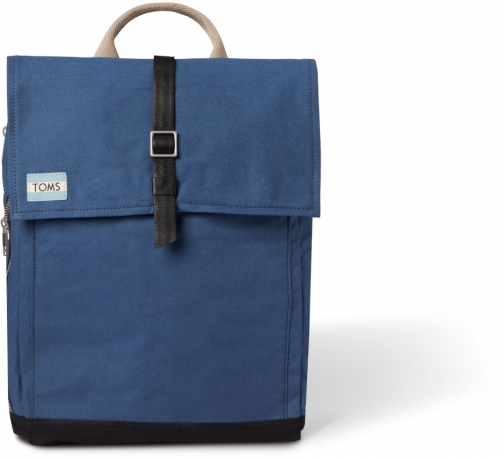 Toms Navy Utility Canvas Trekker Backpack