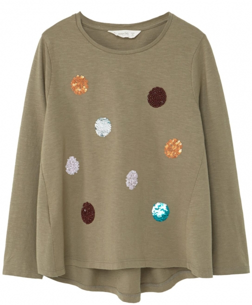 Mango Girls Embroidered Sequin - Shirt