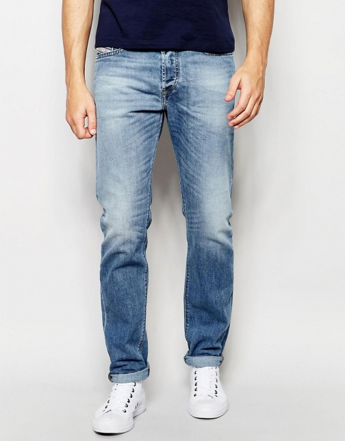 Diesel Buster 842H Regular Slim Fit Stretch Light Wash Jeans