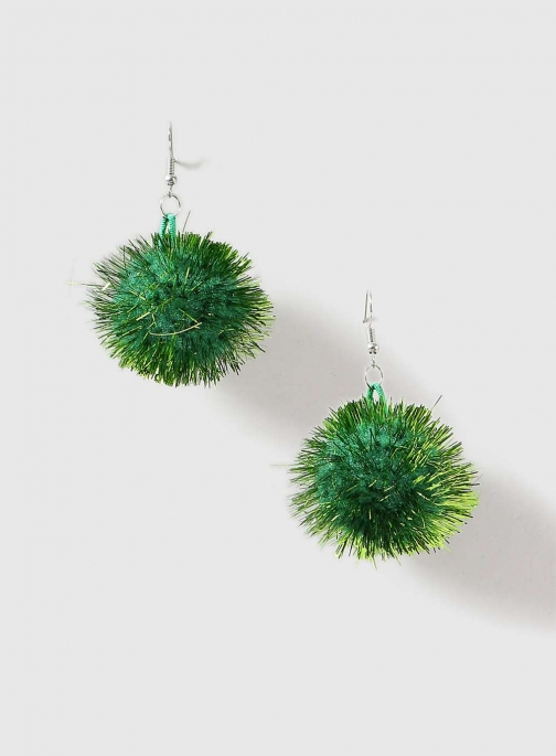 Dorothy Perkins Womens Green Christmas Tinsel - Green Earring