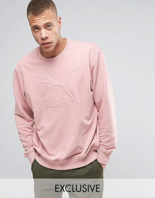 Puma Oversized Pink Exclusive To ASOS Sweatshirt