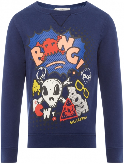 House Of Fraser Billybandit Boys Cartoon-print Sweatshirt