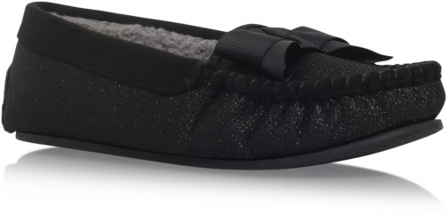 Carvela Lurex Bow Box Slipper